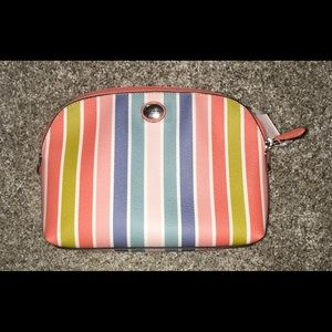 Coach Peyton Multi Stripe Cosmetic Bag NWT